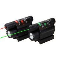 Long Range Red/Green Laser Sight Combo LED Hunt Flashlight Light for Gun Pistol