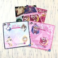 Sailormoon Ichiban Kuji Lottery Prize Lot 2 Hand Towels and 2 Folders