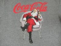 COCA-COLA SANTA CHILLING WITH A COKE - GRAY 2XL T-SHIRT - Y576