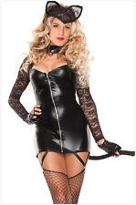 Sexy Mujeres Vestido Elaborado para Halloween Disfraz Gatubela Salvaje Gato Cosplay M/L 8896