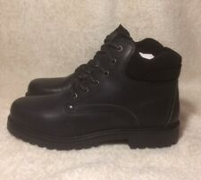 wrangler Boots WM92000 Y black leather ankle work boots Size 10uk Not Steel Toe