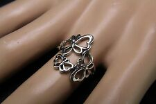Sterling Silver Butterfly Trio Ring Delightful and Delicate Silhouette