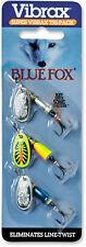 Blue Fox Super Vibrax Inline Spinner Tri-Pack - Trout Fishing Lure Kit