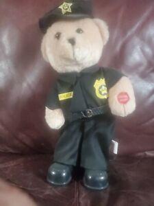 "Chantilly Lane Musical Police Officer Bear ""Bad Boys""Singing Dancing Animated"