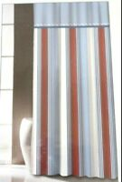 Famous Home NAUTICAL STRIPE Red White Blue Fabric Shower Curtain New