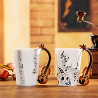 Novelty Guitar Personality Music Note Cup Ceramic Coffee Tea Milk Mug Funny Gift