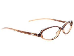 Gucci Women's Eyeglasses GG2542 ZN8 Transparent Brown Oval Frame Italy 51-14 135