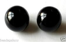 25 pcs acrylique perles, rondes, noir, 12 mm *