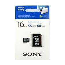 SONY 16GB microSDHC Memory Card with SD Adapter - UHS-I U3 - Class 10 - 95MB/s.