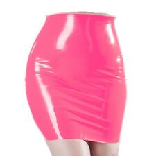 Pink Womens Moulded Latex/Rubber Mini Skirt 100% Natural Rubber Latex Skirt