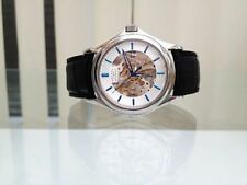 Stainless Steel Case Brushed Wristwatches with Skeleton