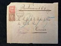 Schweiz - Brief Stück Stempel 1876 Neuchatel Sitzende Helvetia 5 +10 C   Nr.24