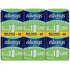 Always Ultra Normal Sanitary Towels Pads Size 1 Women Super Absorbent Pack of 90