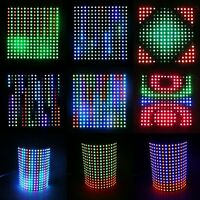 8x8 16x16 8x32 WS2812B 5050 Addressable RGB LED Flexible LED Pixels Screen DC5V