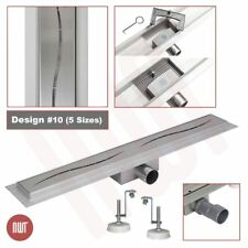 1000mm Long Rectangular Stainless Steel Linear Wetroom Drain (Design 10)