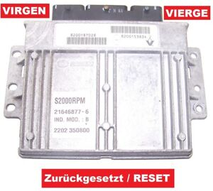 Steuergerät Renault Twingo C06 1,2l 8200187028 8200153834 S2000RPM VIRGEN RESET