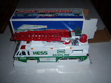 HTF NEAT OLDER '96 VERSION  BOXED HESS GAS OIL STATION TOY EMERGENCY TRUCK