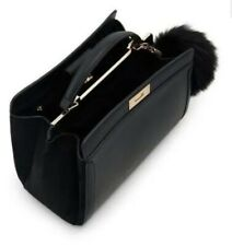 Aldo 'CRALIWIEL' Black Top Handle Satchel. Med HandBag. Pompom. Crossbody strap.