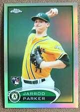 2012 Topps Chrome Refractor Jarrod Parker Rookie Oakland Athletics #177