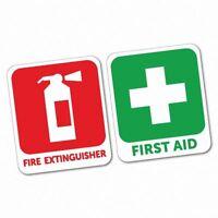 First Aid & Fire Extinguisher Sticker