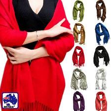 Women Winter Wrap Scarf Warm Solid Plain Color Long Pashmina Shawl CSCA02