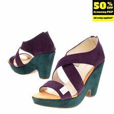 RRP €140 PIERRE CARDIN Clog Sandals Size 40 UK 7 US 10 Strappy Colour Block Heel