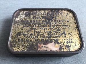 WW2 British army emergency ration tin genuine
