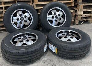 "Genuine Range Rover Classic CSK LSE 16"" Diamond Cut Wheels & Pirelli Tyres x4"