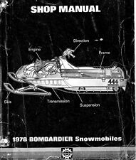 Bombardier snowmobile service shop manual 1978 Elan, Spirit, Olympique & Nuvik