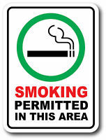 SMOKING PERMITTED Sticker Decal waterproof outdoor high quality White Background