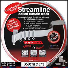 Streamline PVC plastic curtain track 3.5 meter(350cm) coil with fittings, bay…