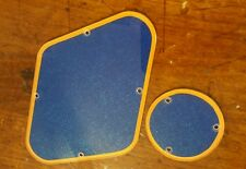 Gibson Les Paul Back Plates/Cavity Covers... Met Orange/Dark Blue Sparkle... JAT