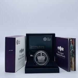 2015 Royal Mint The Longest Reigning Monarch Silver Piedfort £5 Five Pounds Coin