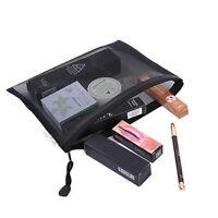 1PC Zipper Lock Mesh Storage Bags Cosmetic Makeup Pouch Travel Organizer HLD