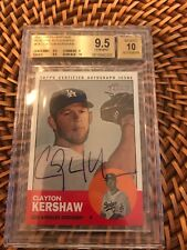 2012 Topps Heritage Real One Blue Ink CLAYTON KERSHAW AUTO BGS 9.5/10 RARE!