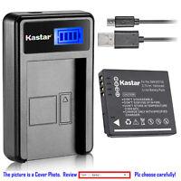 Kastar Battery LCD Charger for Panasonic DMW-BCF10 & Panasonic Lumix DMC-FS15
