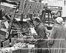 Old Vintage New York City Brooklyn Market Vegetable Cart Vendor Photo Picture