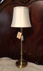 ONE Ralph Lauren Darien Candlestick Table Lamps Brass Gold NWT