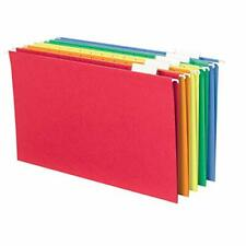 Smead Hanging File Folder With Tab 15 Cut Adjustable Tab Legal Size Assorted