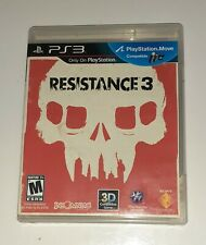Resistance 3 - PS3 2011 Sony PlayStation 3 Complete W/ Manual