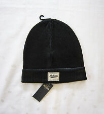 NWT Hollister Women's Metallic Coated Knit Beanie Hat in Black ~ One Size