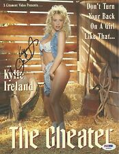 Kylie Ireland Signed 8x10 Photo PSA/DNA COA The Cheater Promo Poster Autograph