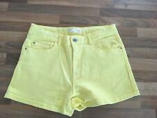BRAND NEW (NO TAGS) ZARA GIRLS BRIGHT YELLOW DENIM SHORTS AGE 13-14 YEARS