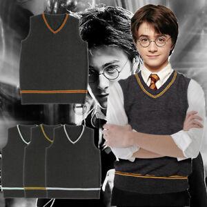 Harry Potter0 Cosplay Sweater Wool V Neck Vest And Scarf Tie Uniform Fancy Dress