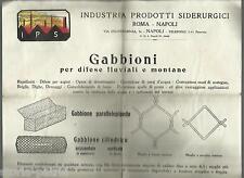 NAPOLI_ROMA_INDUSTRIA PRODOTTI SIDERURGICI_GABBIONI FLUVIALI E MONTANI_FRANE