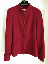 CHANEL 12A BOMBAY RED TWEED CC GRIPOIX BUTTONS JACKET 40 38