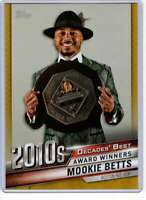 Mookie Betts 2020 Topps Decades Best 5x7 Gold #DB-99 /10 Red Sox