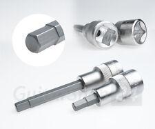 """7mm Innensechskant 1/2"""" Stecknuss Bits Nuss Bit Einsatz Sechskant [55mm + 100mm]"""