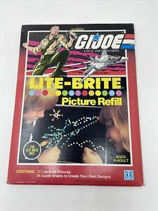 "Vtg NISP Lite-Brite ""G.I. Joe"" Picture Refill  # 5477 by Hasbro 1984"