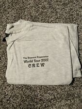 Beyonce World Tour 2007 Local Crew T-shirt - Xl - Grey